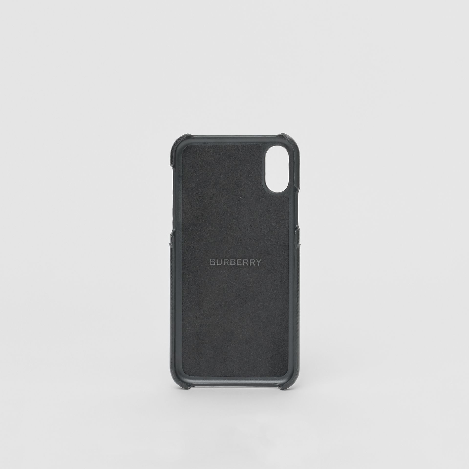 Logo Graphic Canvas iPhone X/XS Case in Black | Burberry Canada - gallery image 3