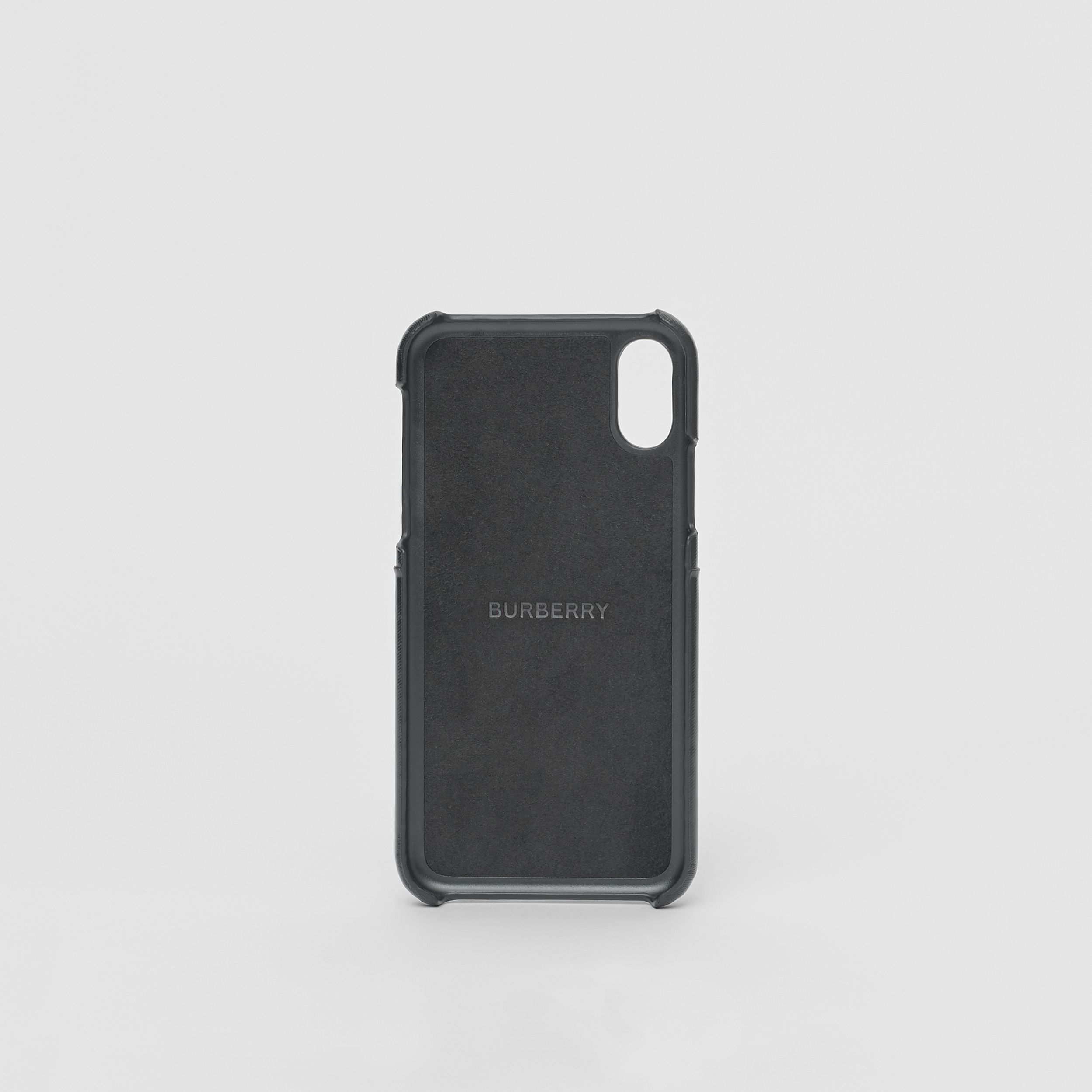 Logo Graphic Canvas iPhone X/XS Case in Black | Burberry - 4