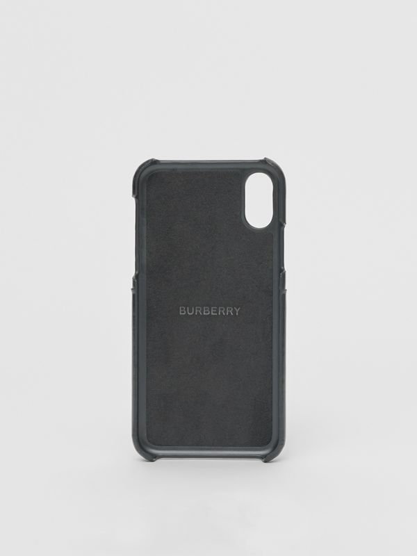 Logo Graphic Canvas iPhone X/XS Case in Black | Burberry Canada - cell image 3