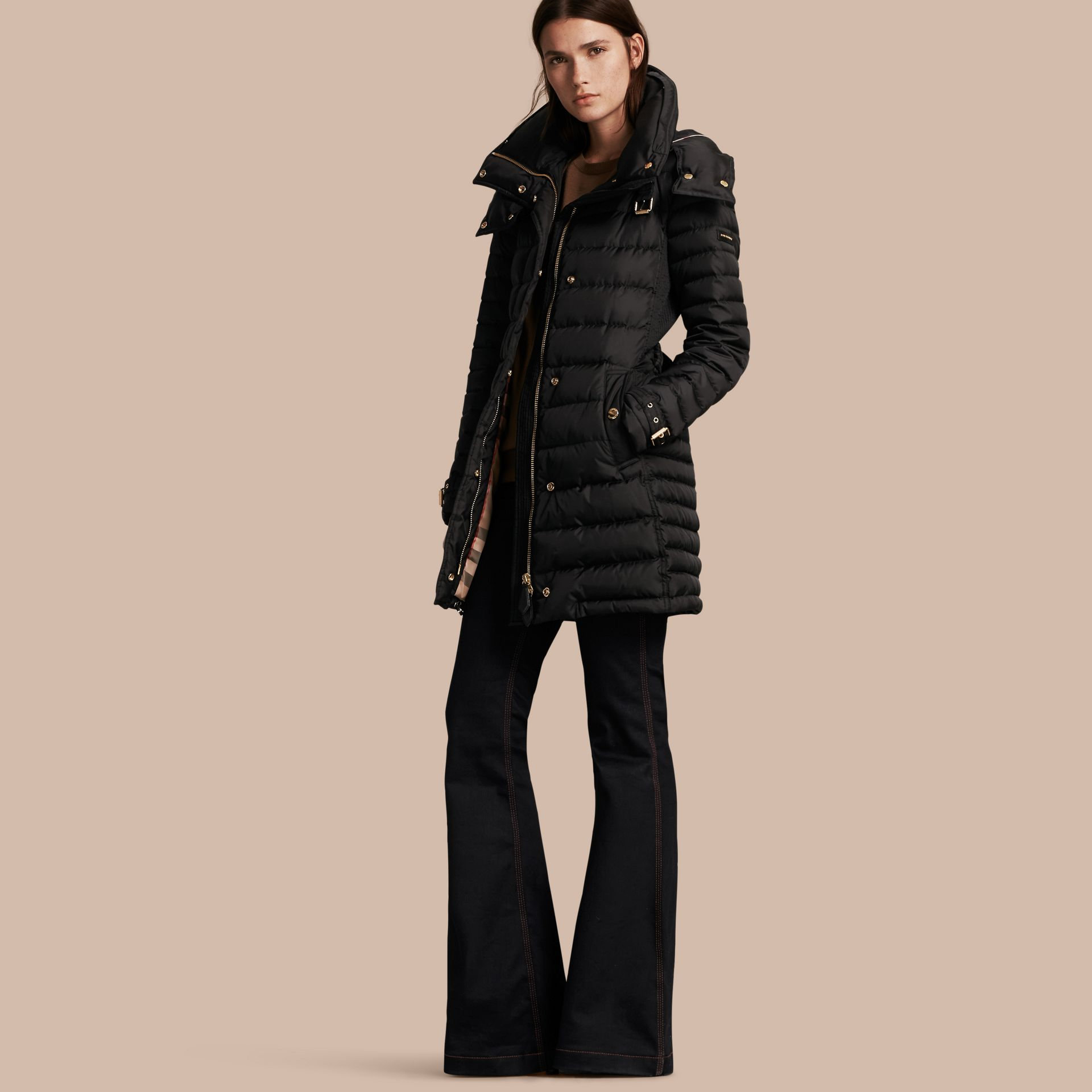 Down-filled Puffer Coat with Packaway Hood - Women | Burberry - gallery image 1