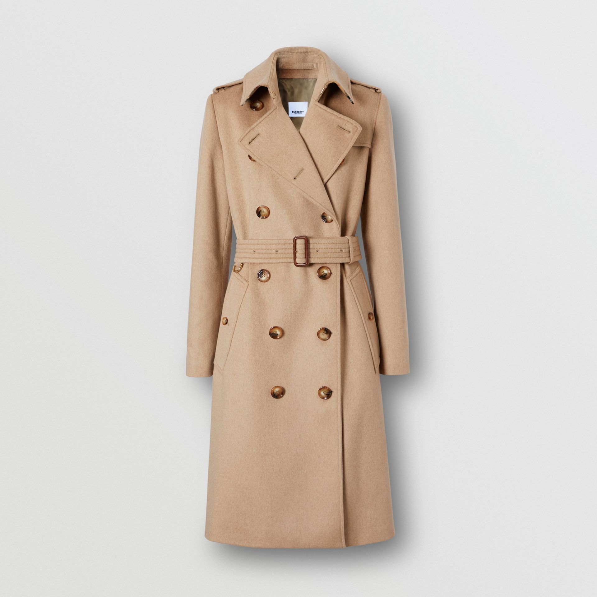 Cashmere Trench Coat in Camel - Women | Burberry Australia - gallery image 3