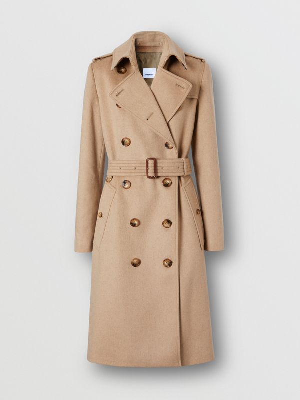Cashmere Trench Coat in Camel - Women | Burberry Australia - cell image 3