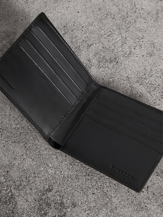 Vintage Check International Bifold Wallet in Black - Men | Burberry - cell image 3