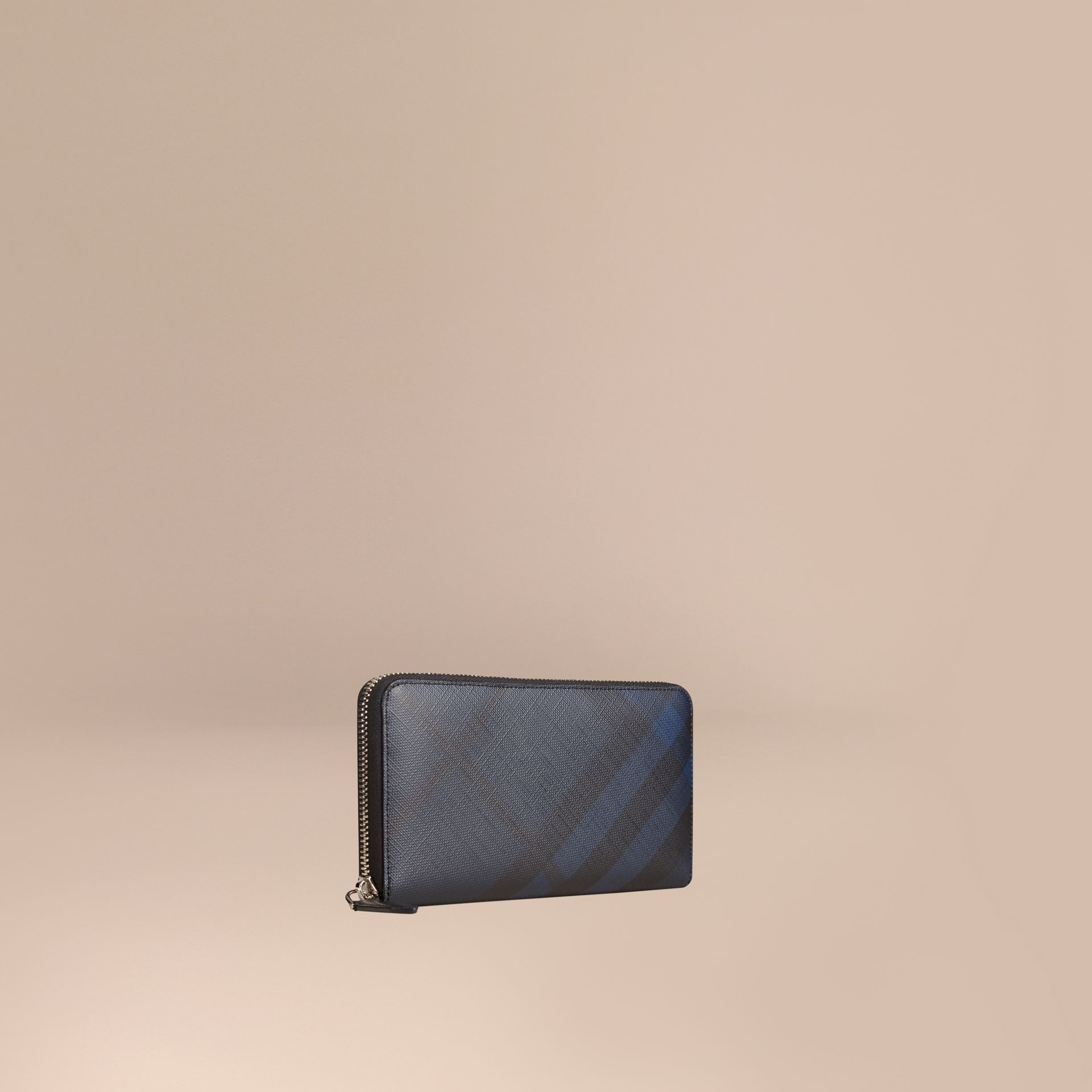 Navy/black London Check Ziparound Wallet Navy/black - gallery image 1