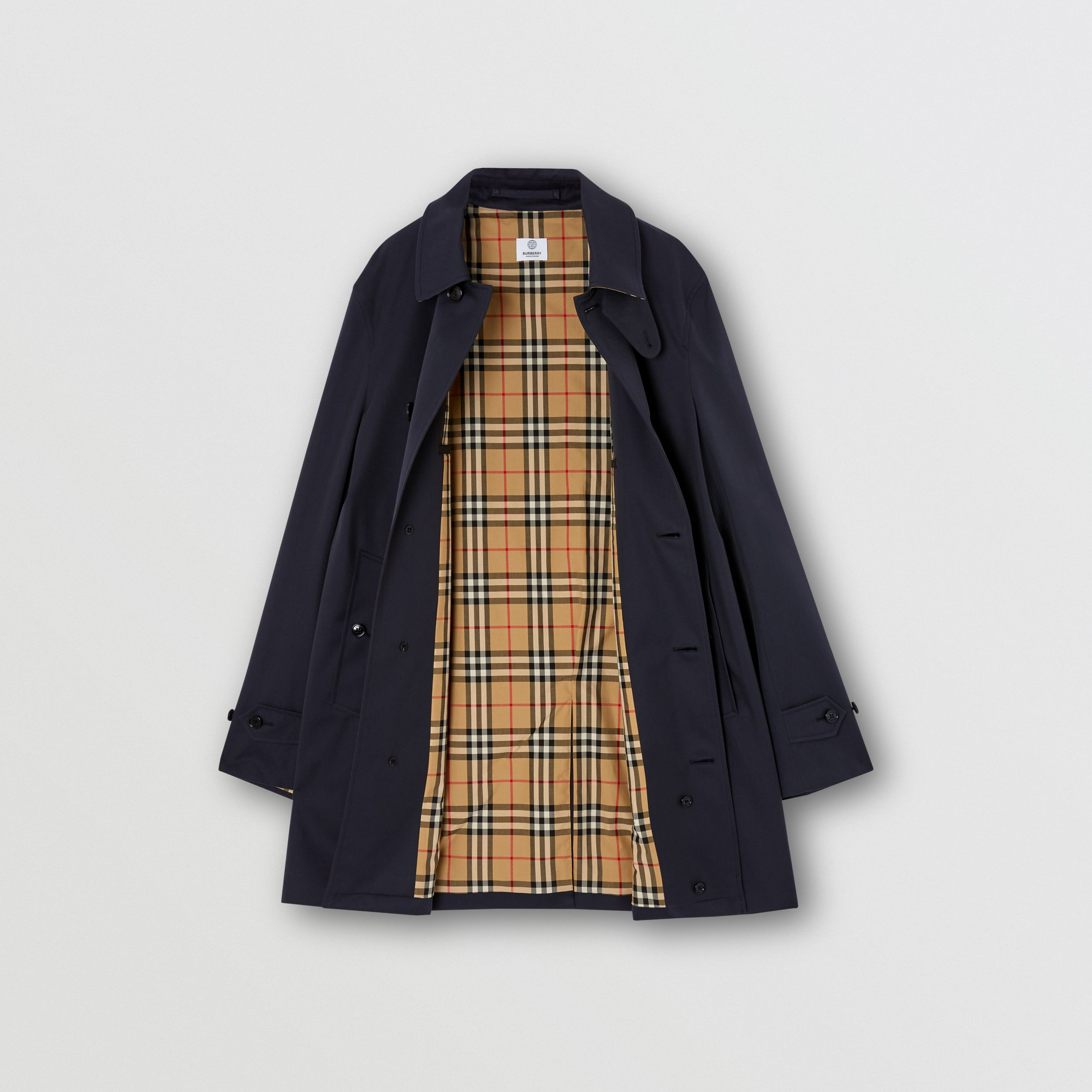 Organic Cotton Gabardine Car Coat in Midnight - Men | Burberry Australia - 4