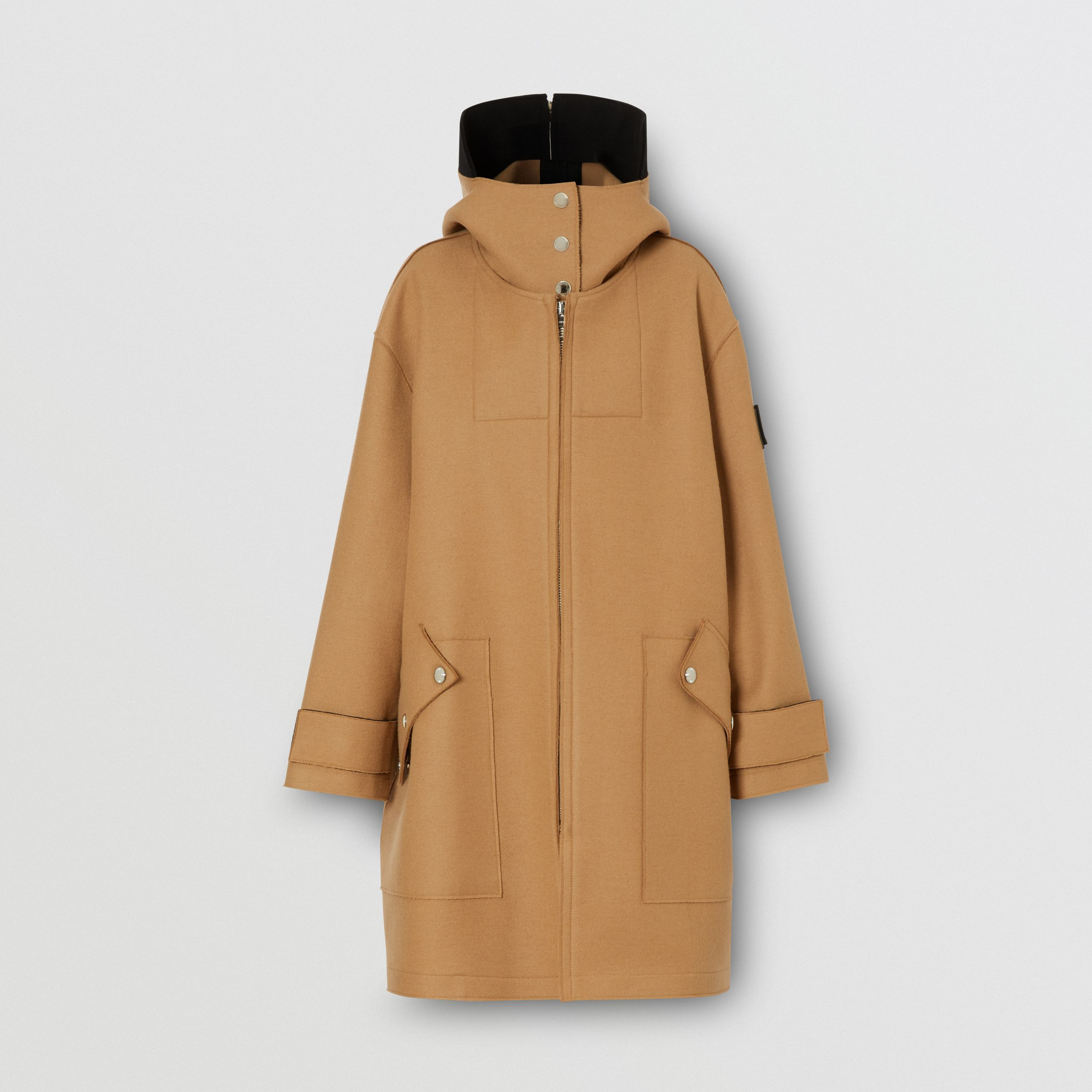 Logo Appliqué Technical Wool Hooded Parka - Women | Burberry - 4