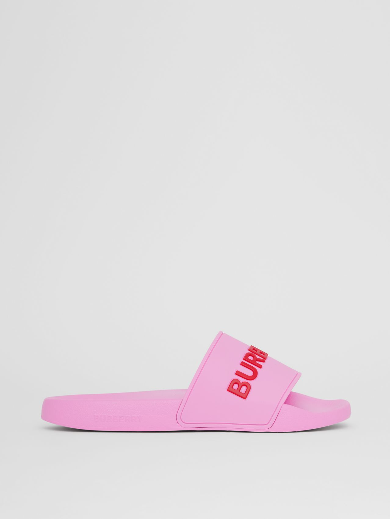 Logo Detail Slides in Bubblegum Pink