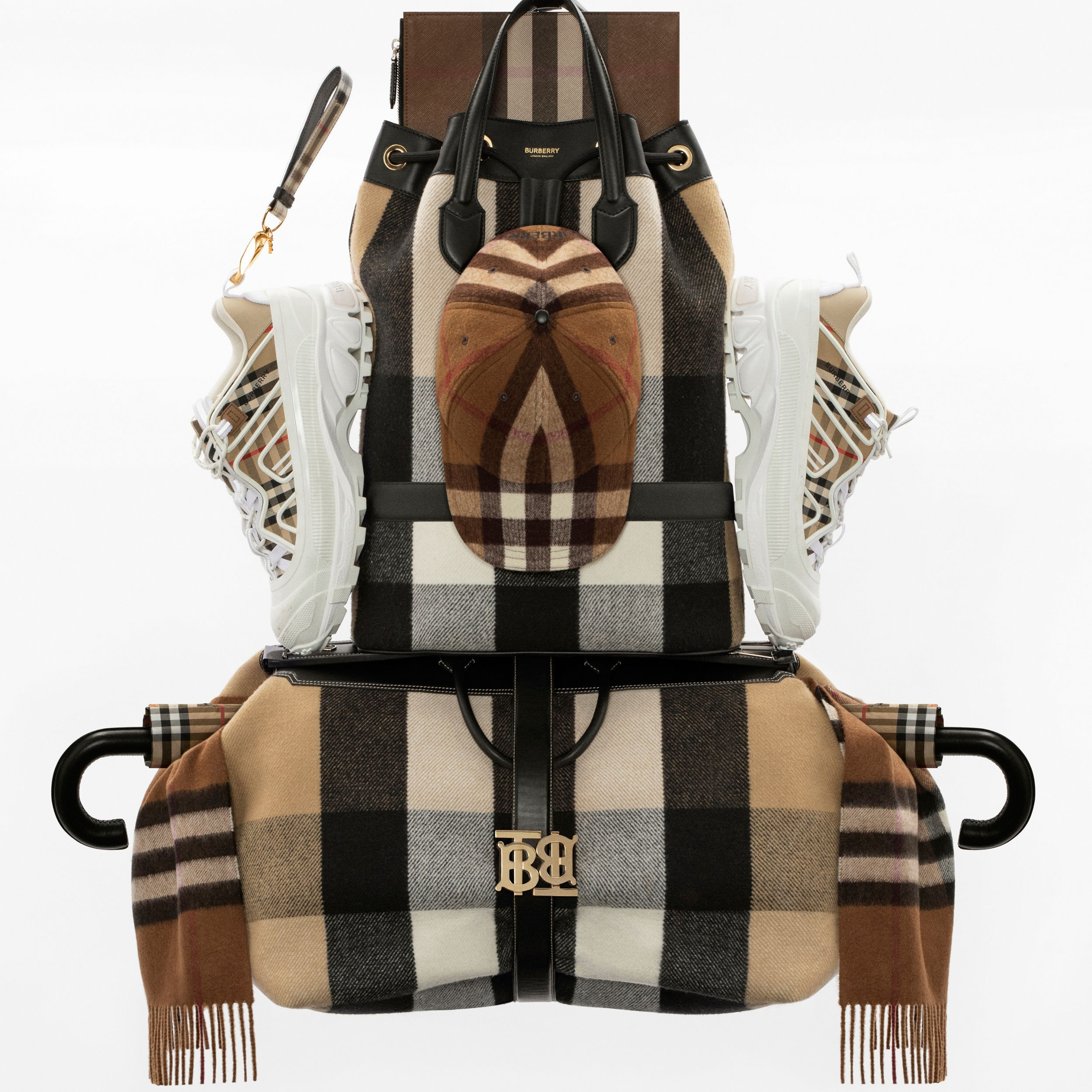 Vintage Check Cotton and Leather Arthur Sneakers in Archive Beige/white | Burberry - 2