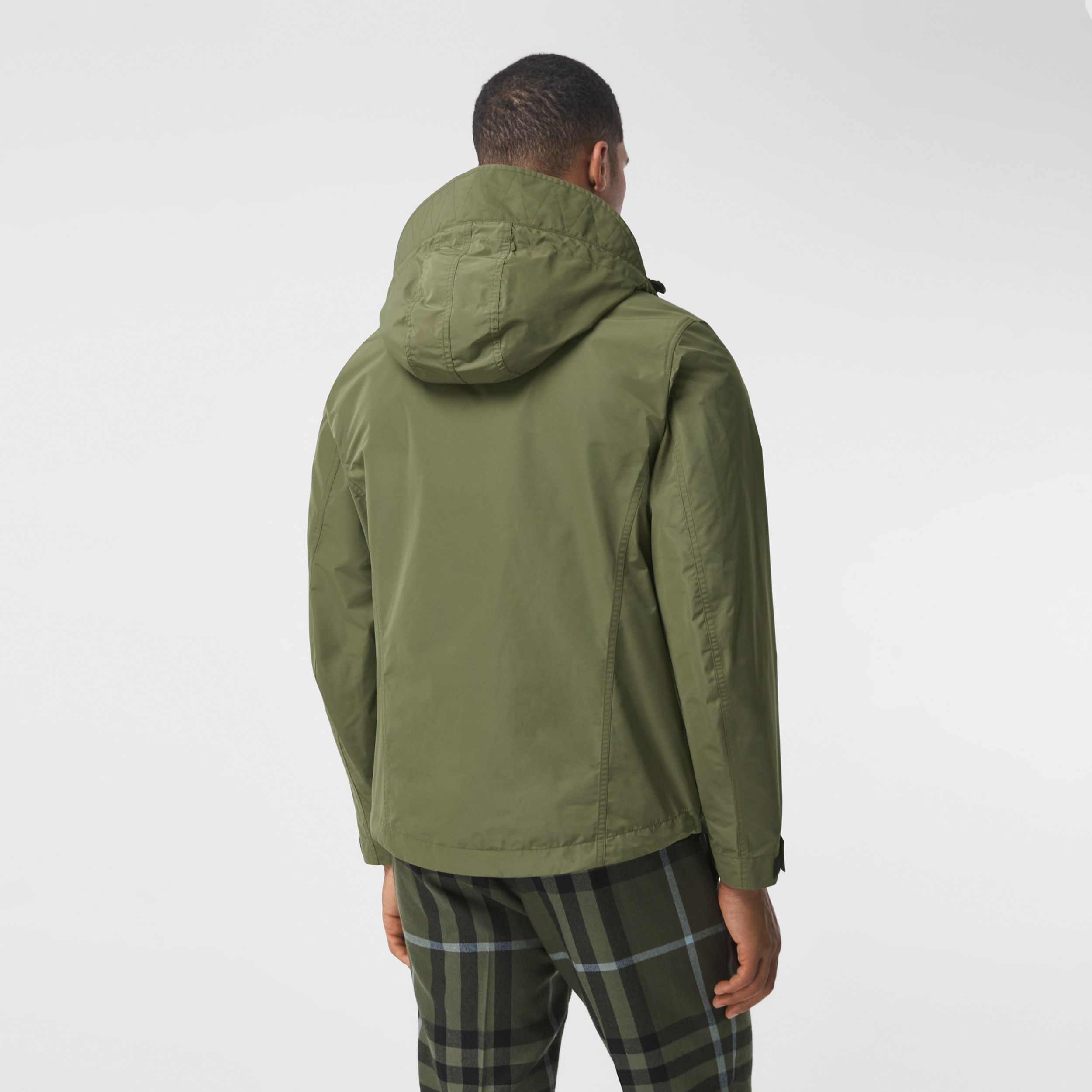 Packaway Hood Shape-memory Taffeta Jacket in Olive - Men | Burberry - 3
