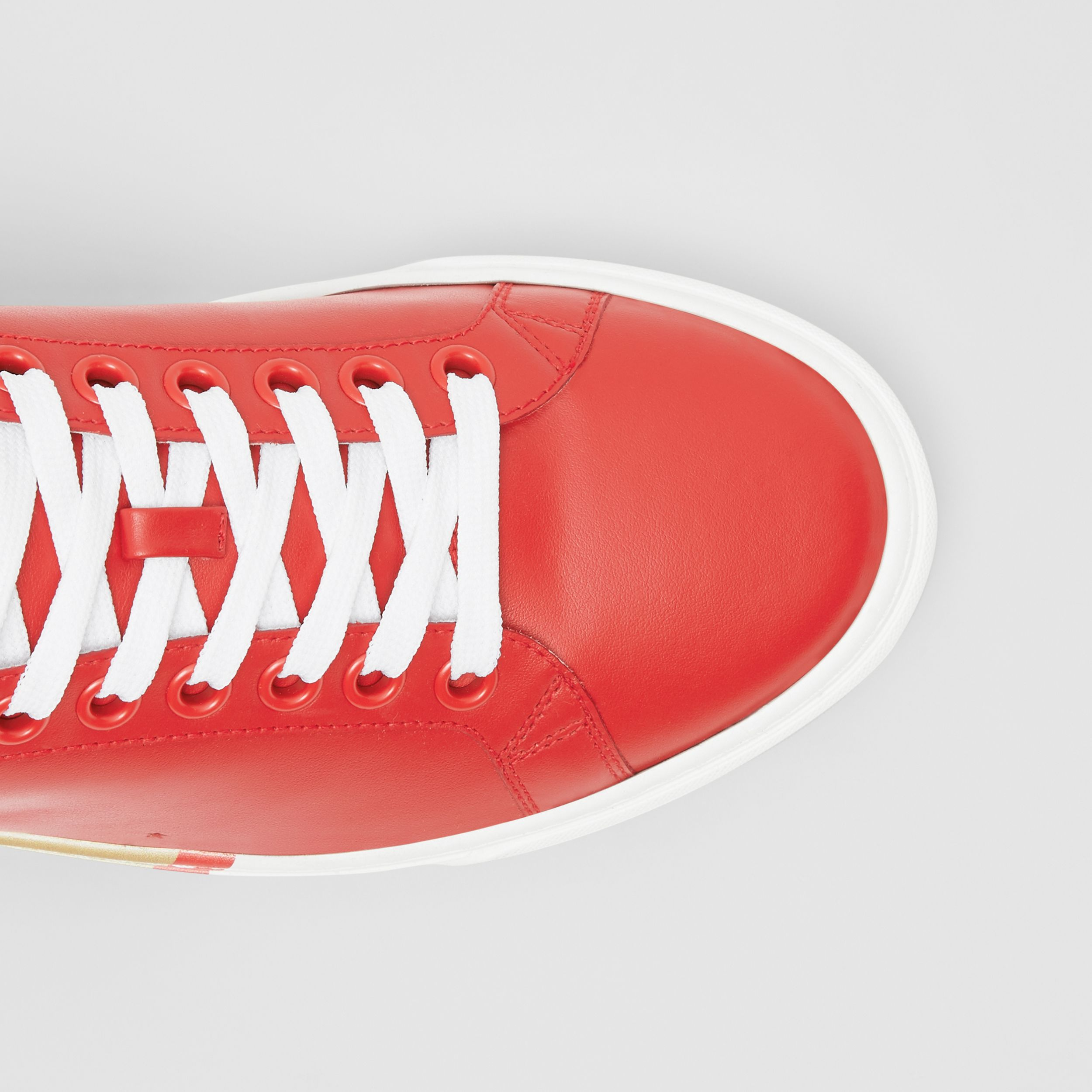 Bio-based Sole Leather Sneakers in Bright Red - Men | Burberry United States - 2
