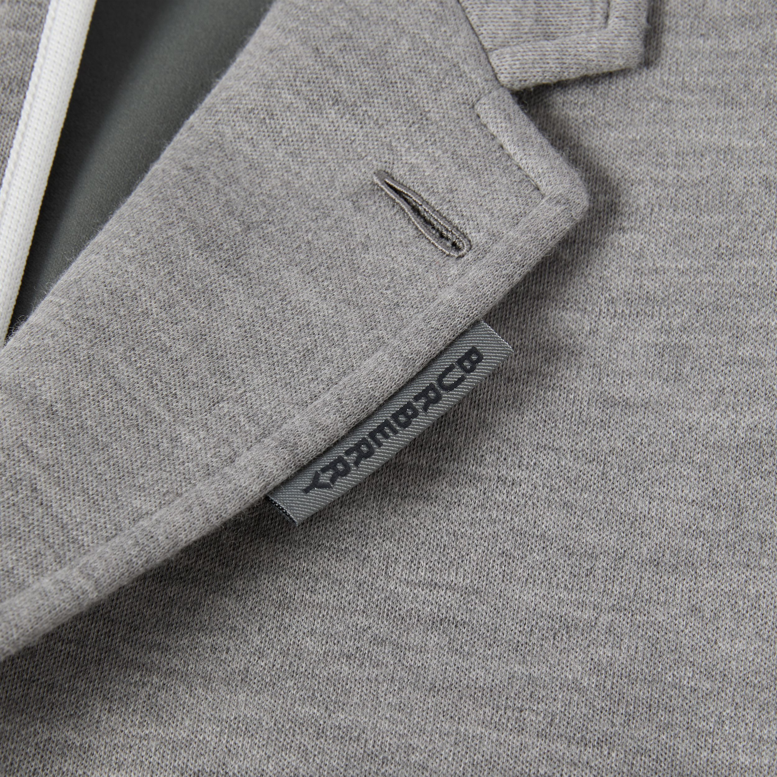 Relaxed Fit Wool Jersey Tailored Jacket in Cloud Grey - Men | Burberry - 4