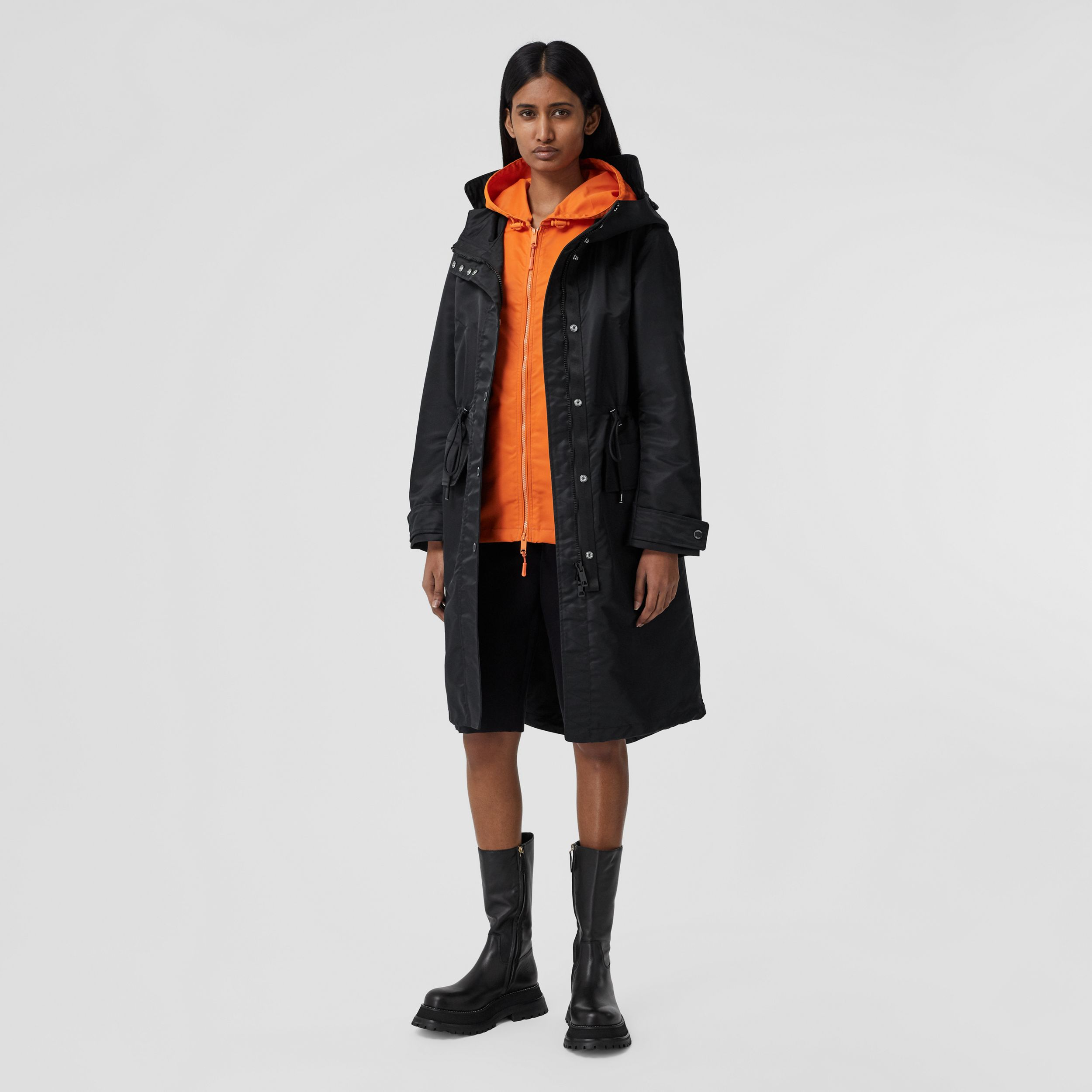 Parka en nylon recyclé Horseferry (Noir) - Femme | Burberry - 1