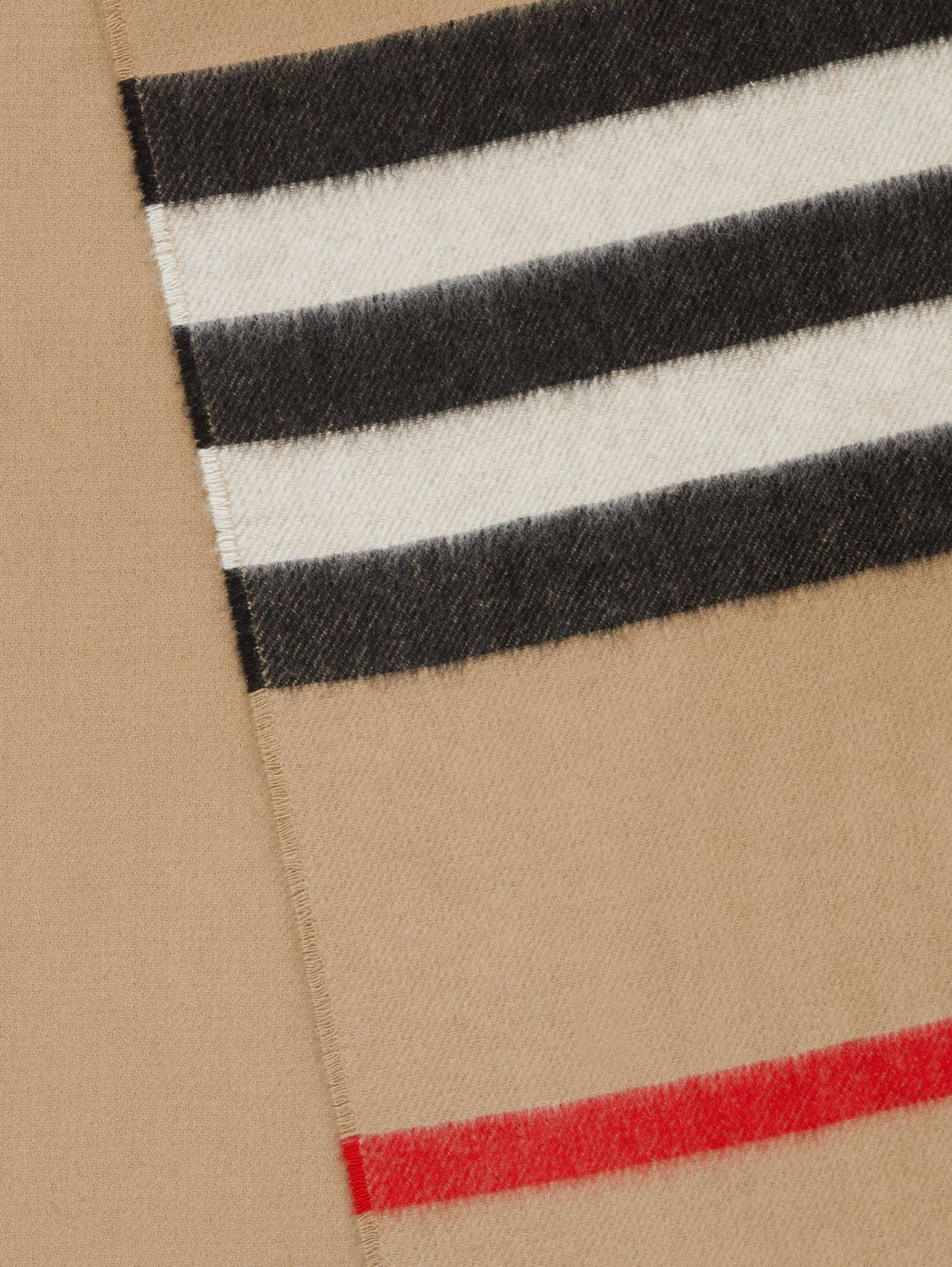Icon Stripe Cashmere Jacquard Scarf in Archive Beige