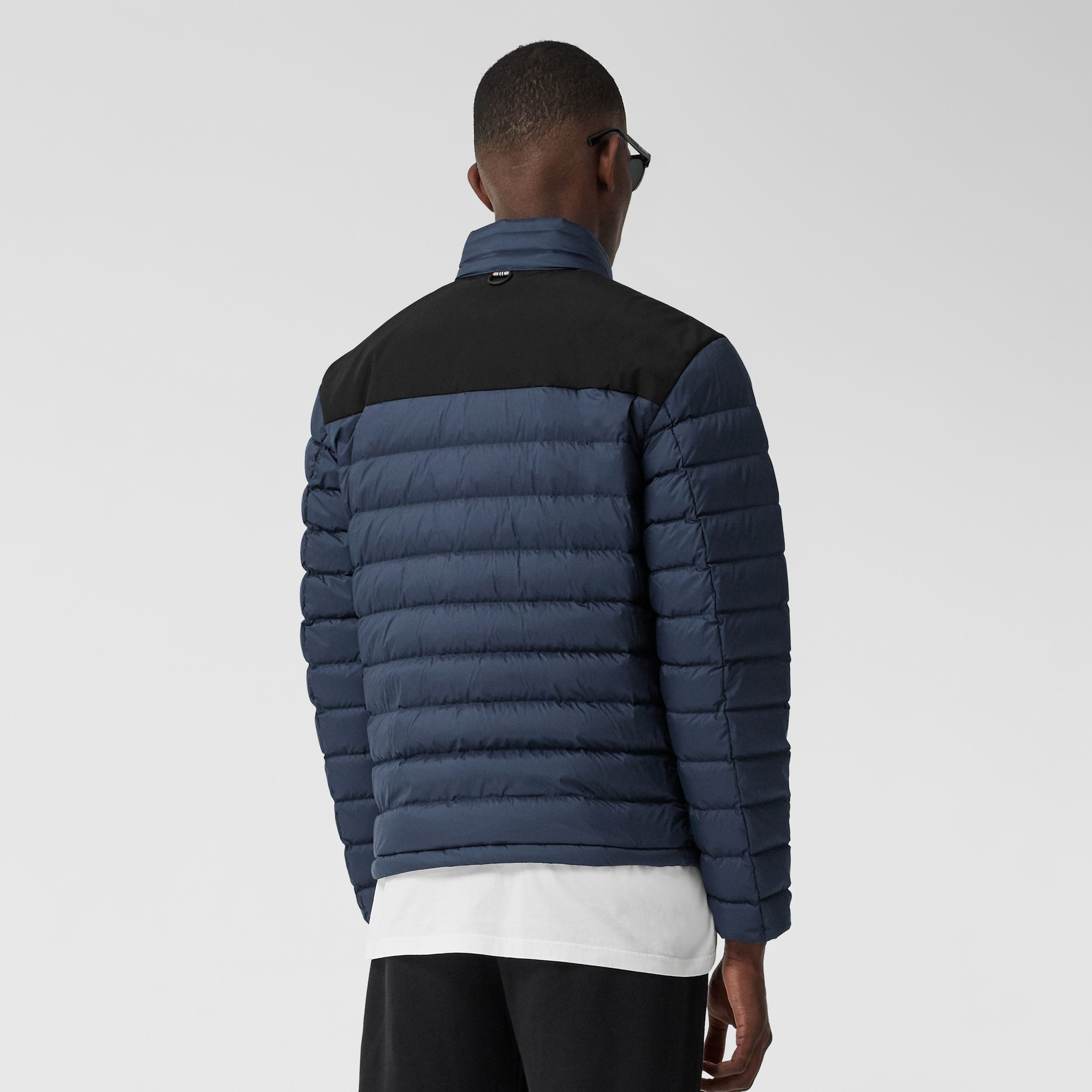 Logo Appliqué Lightweight Puffer Jacket in Navy - Men | Burberry - 3
