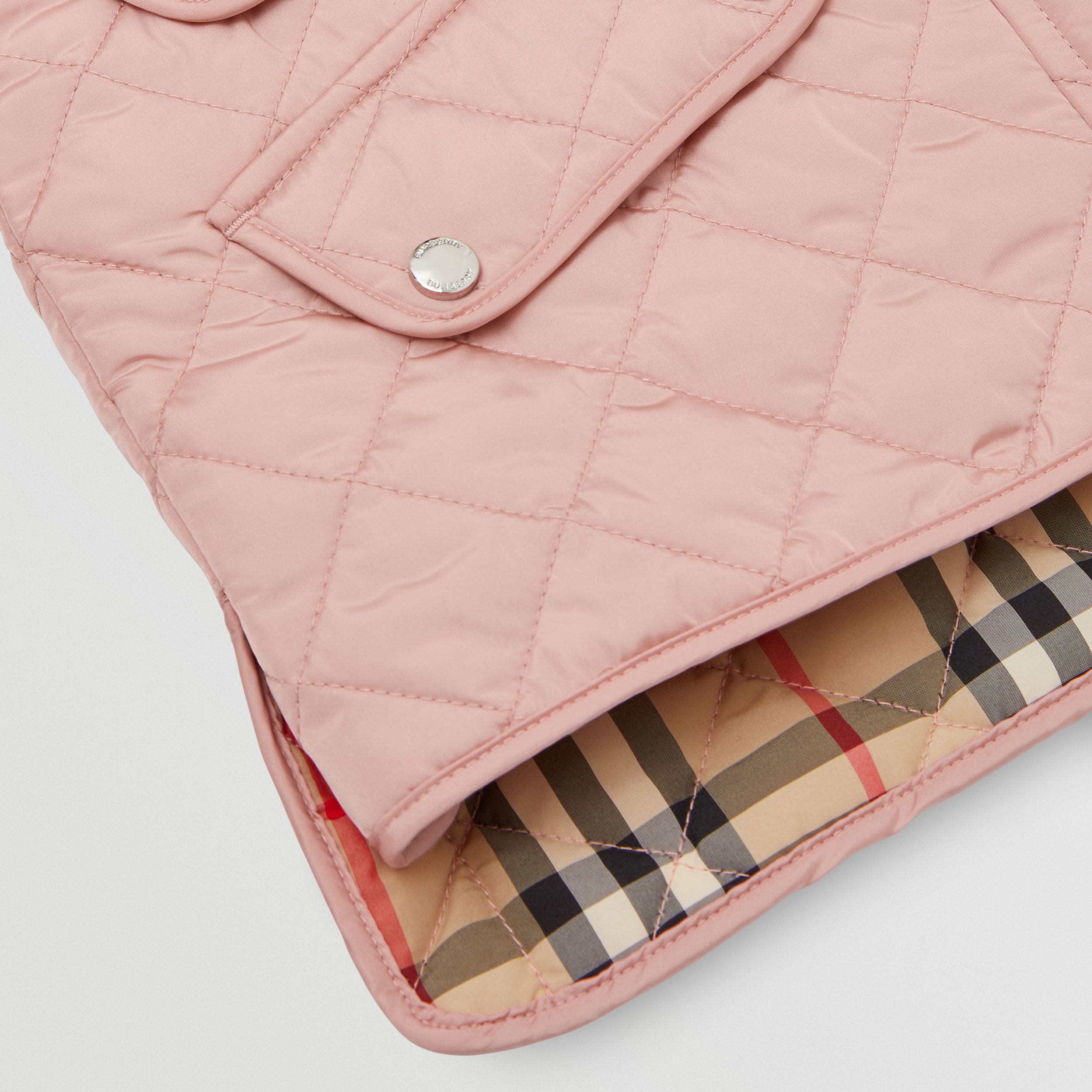 Lightweight Diamond Quilted Jacket in Dusty Pink | Burberry Canada - 2