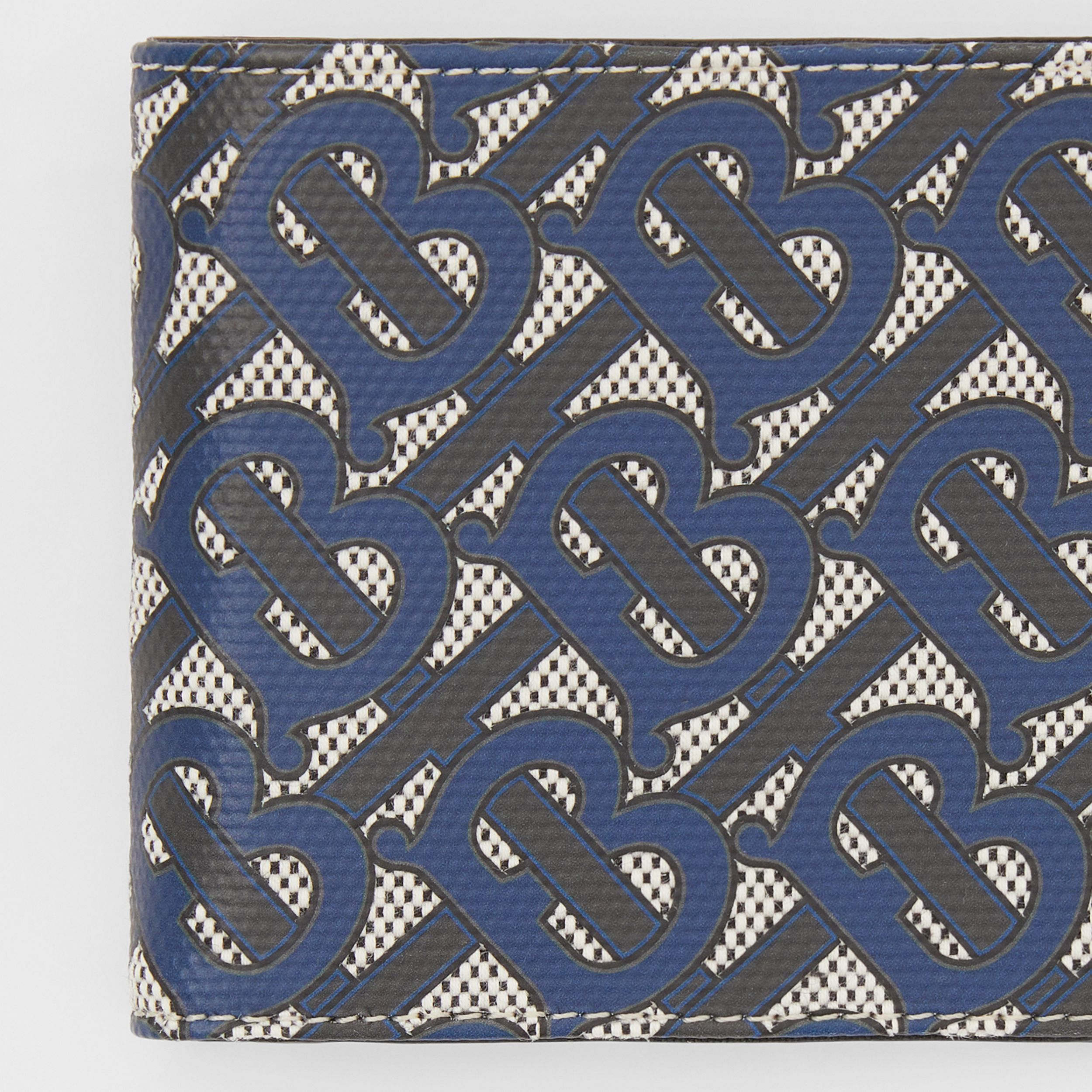 Monogram Print Canvas International Bifold Wallet in Ink Blue - Men | Burberry - 2
