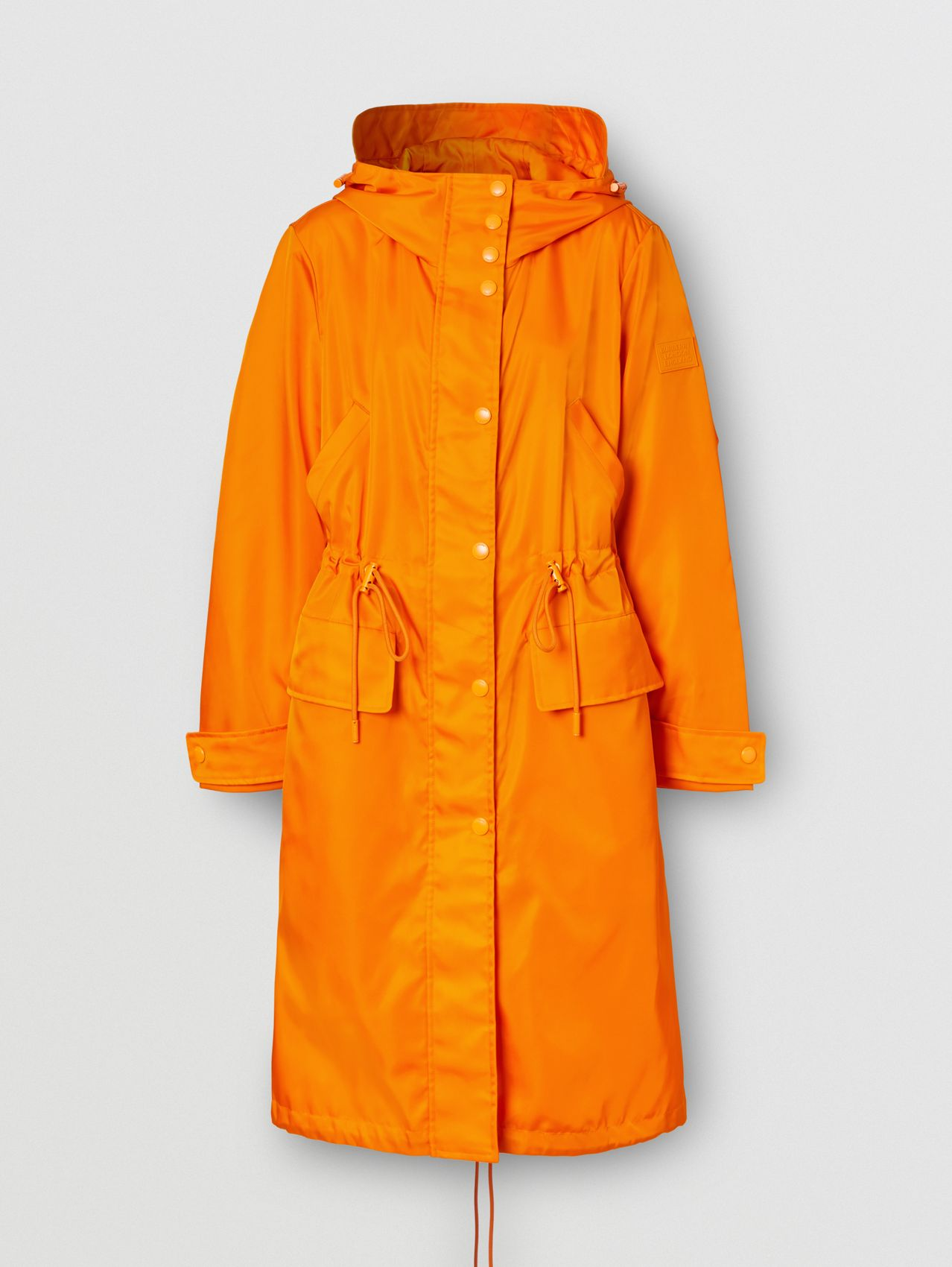 Logo Appliqué ECONYL® Parka in Deep Orange