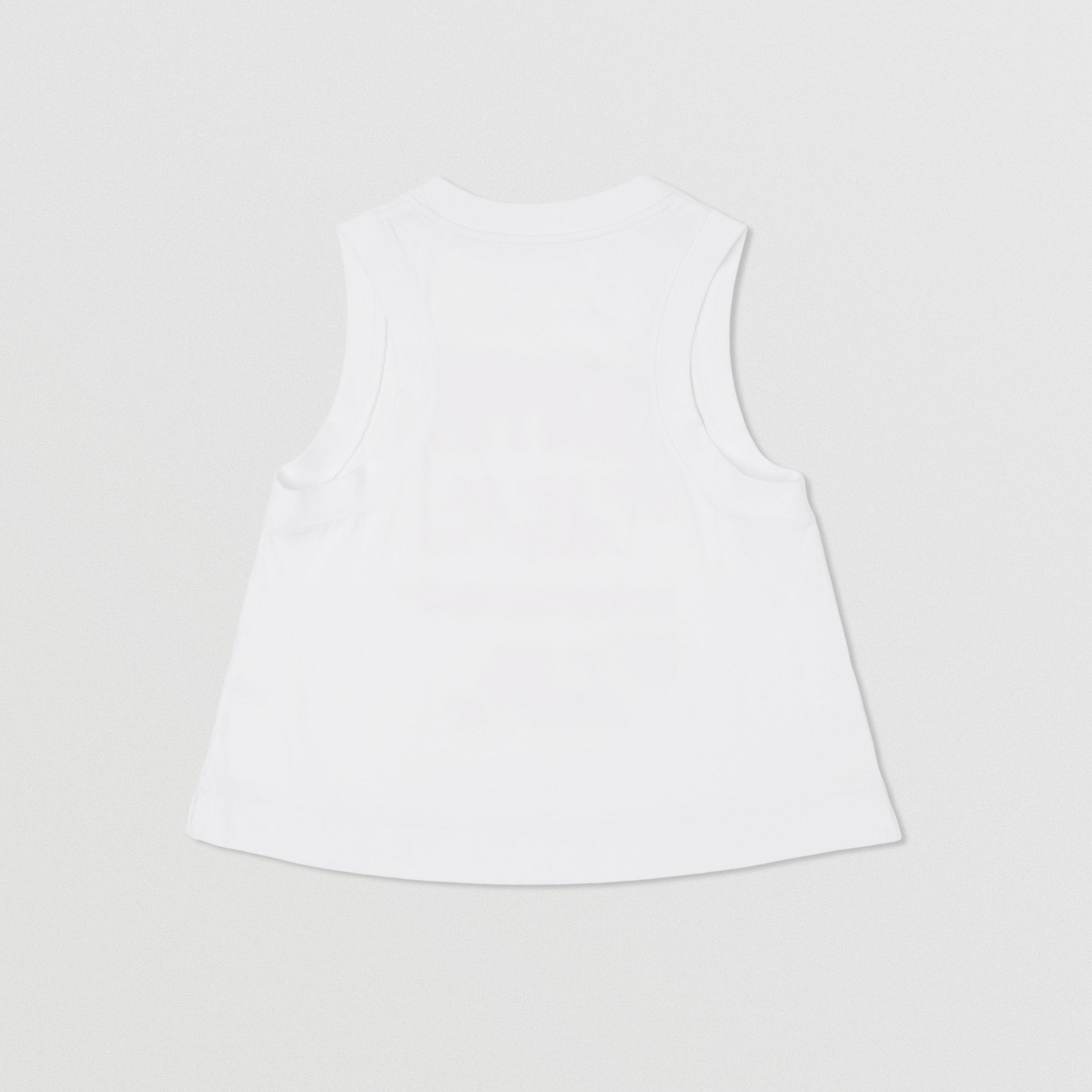 Coordinates Print Cotton Sleeveless Top in White | Burberry - 3