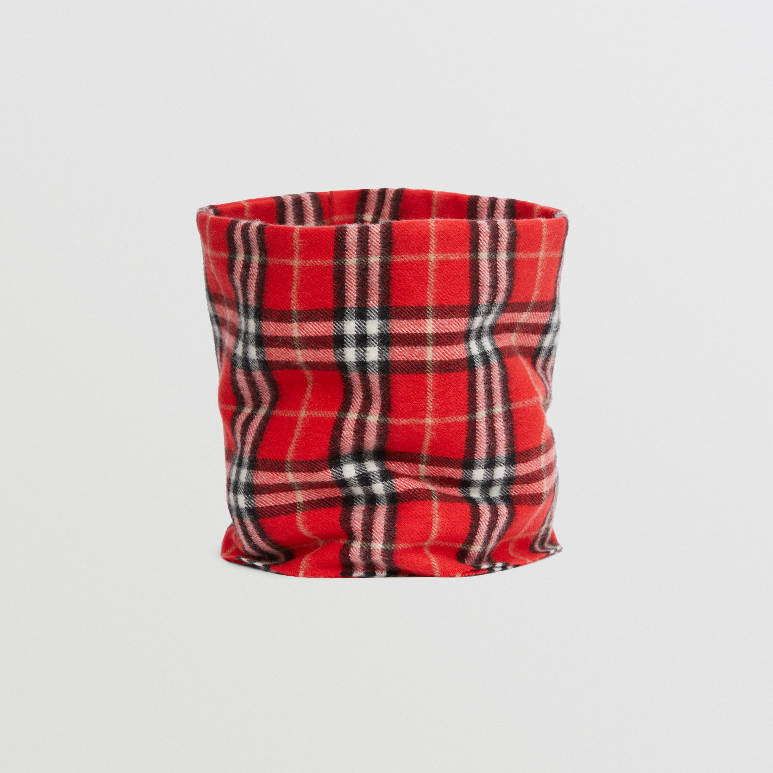 Vintage Check Cashmere Snood in Bright Red - Children | Burberry - 4