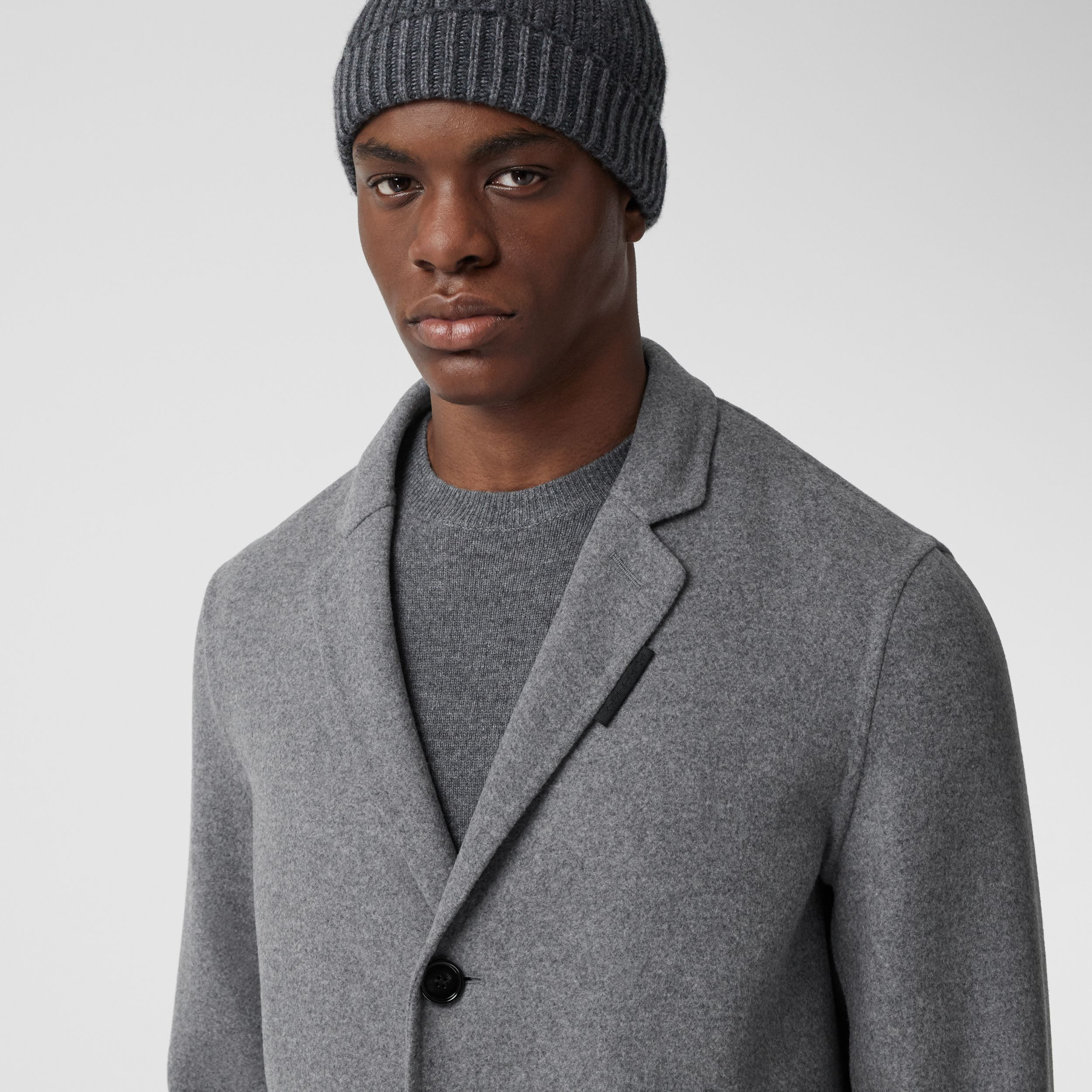 Wool Cashmere Lab Coat in Charcoal - Men | Burberry - 2