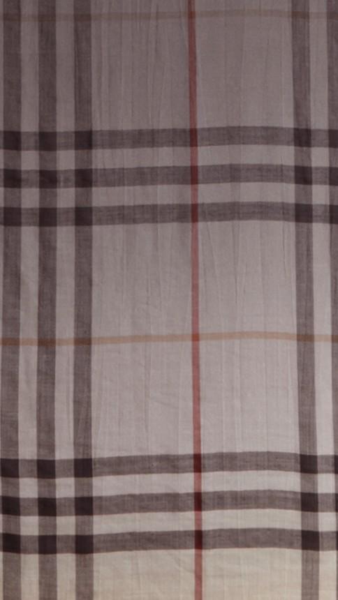 Check ivoire Écharpe légère en laine et soie à motif check ombré Ivoire - Image 2