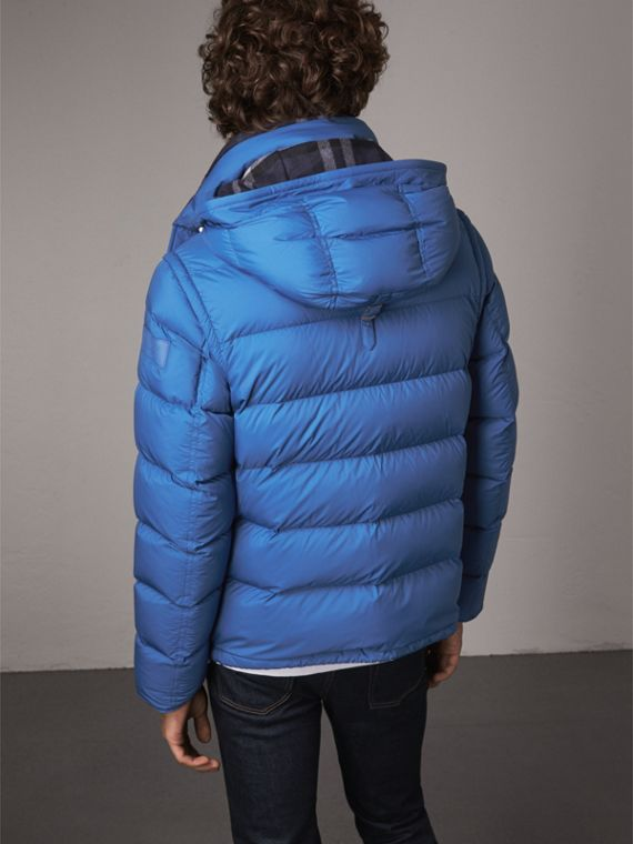 Detachable-sleeve Down-filled Puffer Jacket in Cerulean Blue - Men | Burberry Singapore - cell image 2