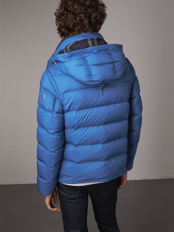 Detachable-sleeve Down-filled Puffer Jacket in Cerulean Blue - Men | Burberry - cell image 2