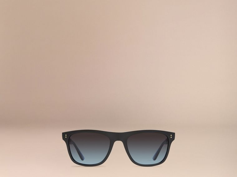 Black Foldable Rectangular Frame Sunglasses - cell image 1