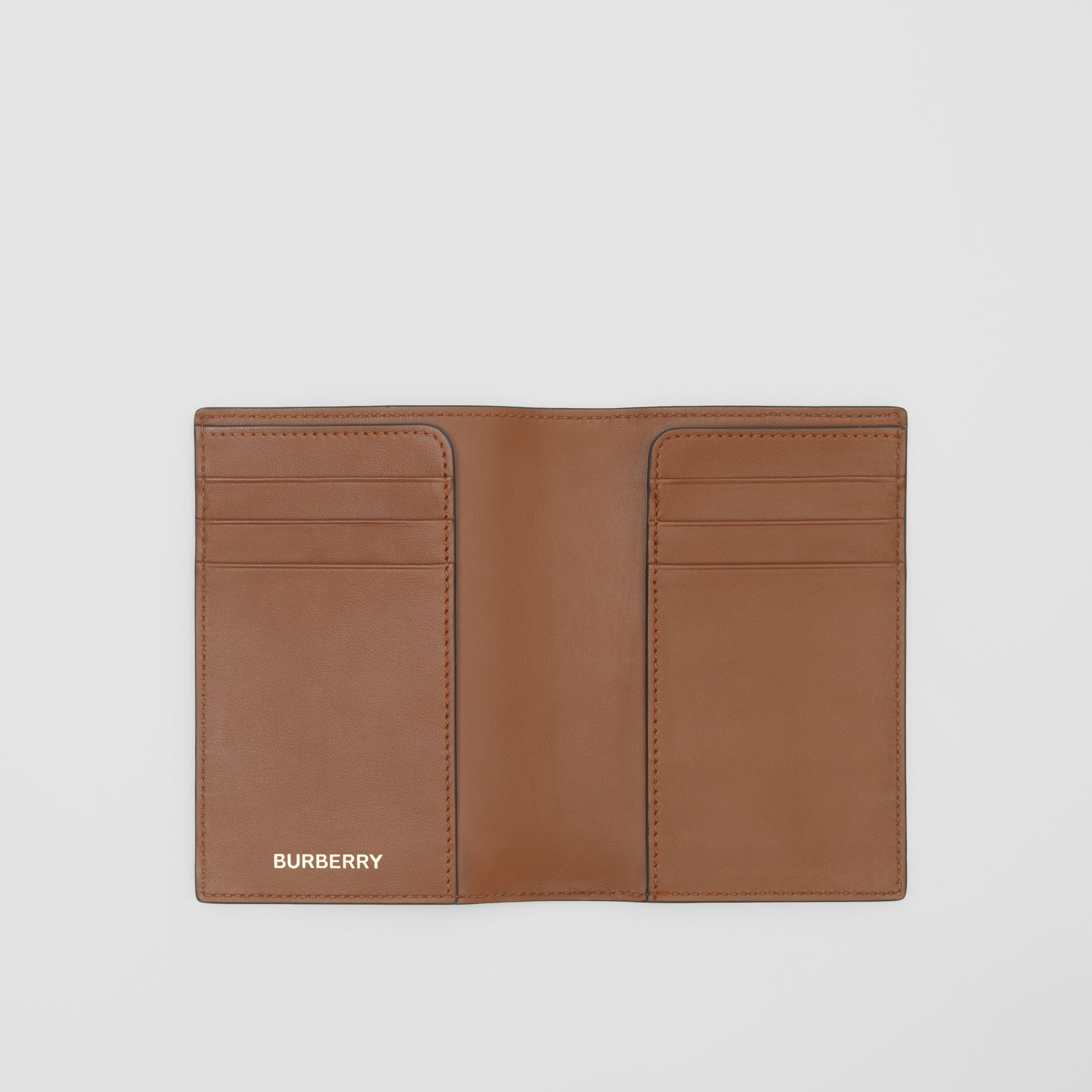 Monogram Print E-canvas Passport Holder in Bridle Brown - Men | Burberry - 3
