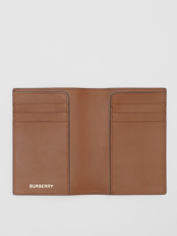 Monogram Print E-canvas Passport Holder in Bridle Brown - Men | Burberry Singapore - cell image 2