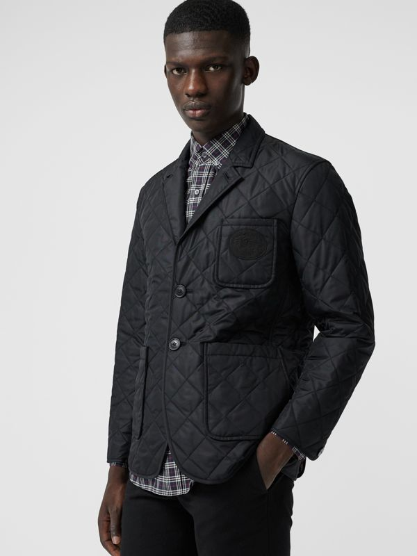 Diamond Quilted Thermoregulated Blazer in Black - Men | Burberry United States - cell image 3