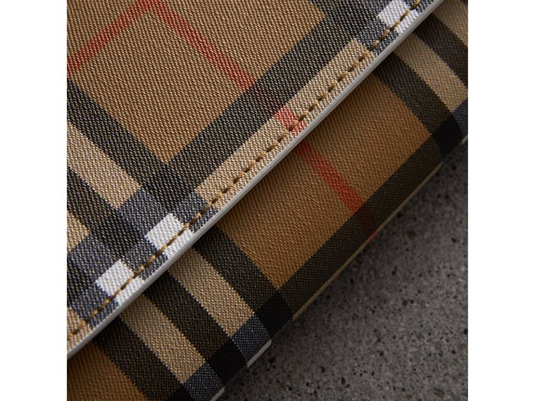 Vintage Check and Leather Continental Wallet in Chalk White - Women | Burberry United Kingdom - cell image 1