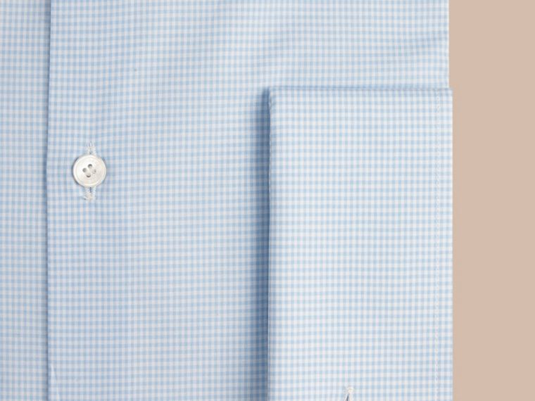 City blue Slim Fit Double-cuff Gingham Cotton Poplin Shirt - cell image 1