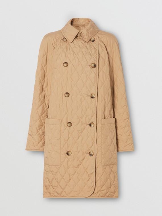 Manteau matelassé à double boutonnage (Biscuit)