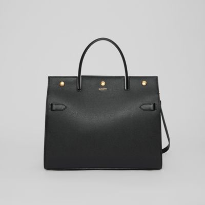 Medium Leather Title Bag by Burberry