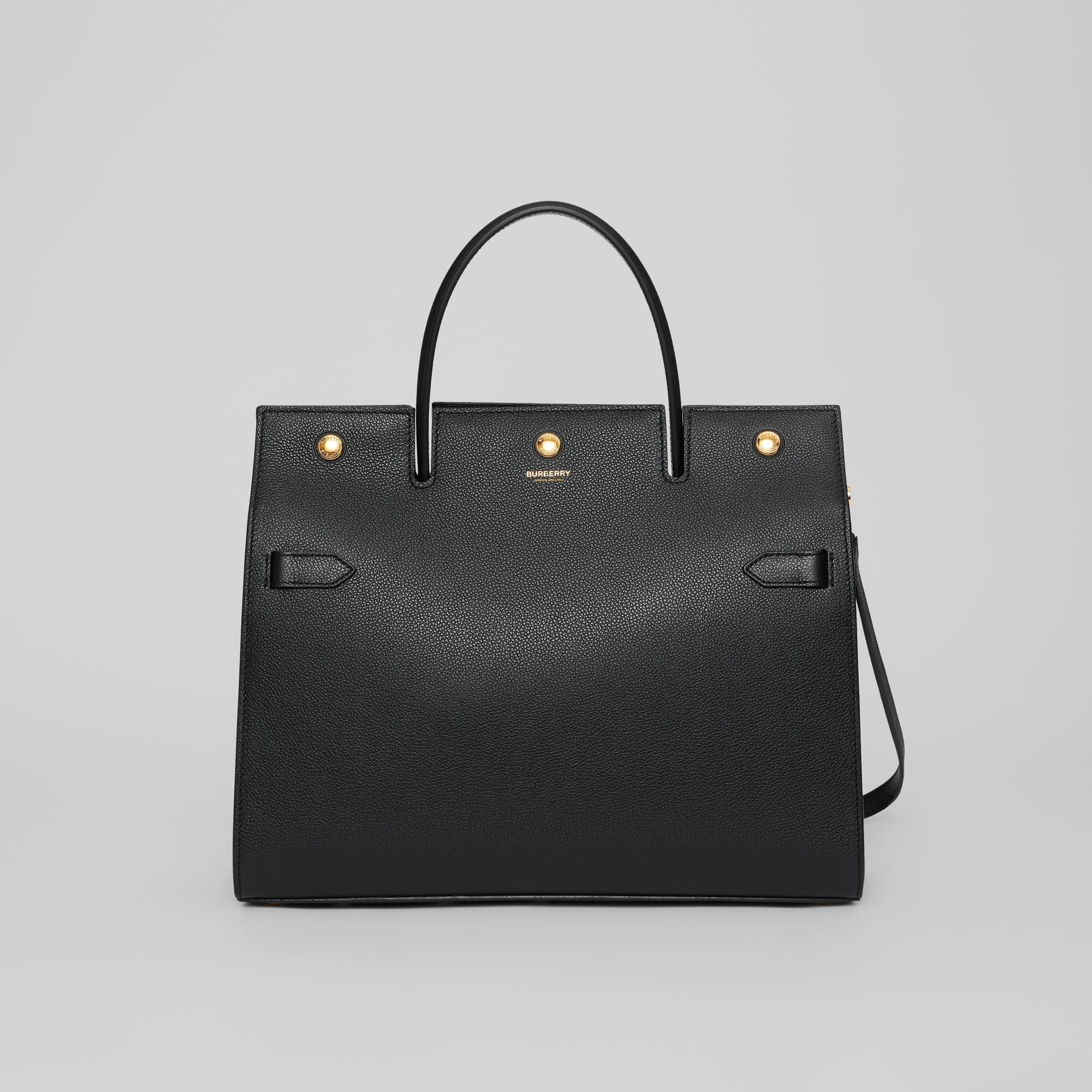 Medium Leather Title Bag in Black - Women | Burberry - gallery image 0