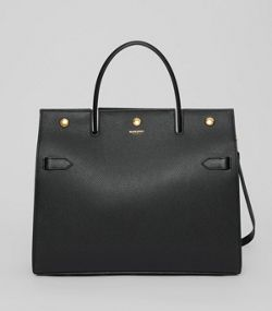 65fdb06f7 Medium Leather Title Bag in Black