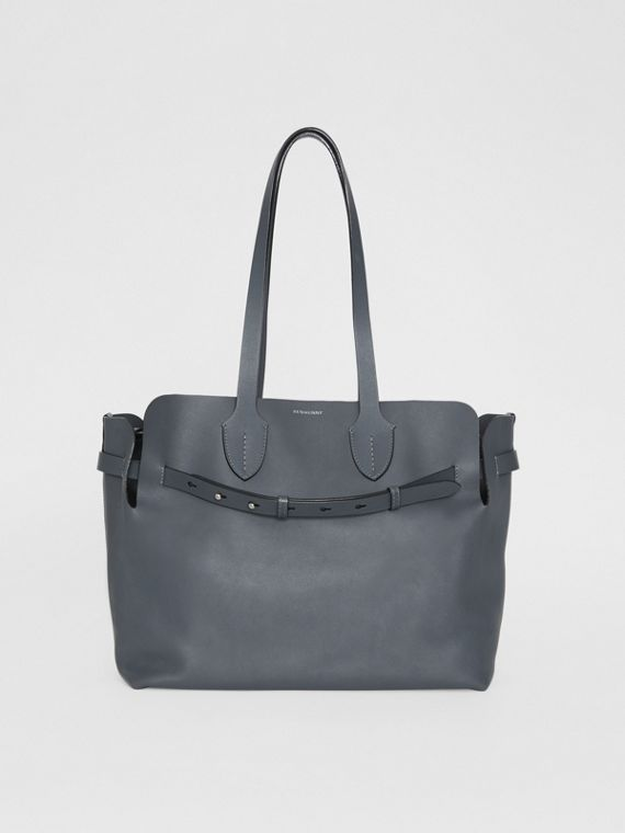 The Medium Soft Leather Belt Bag in Dark Pewter Grey
