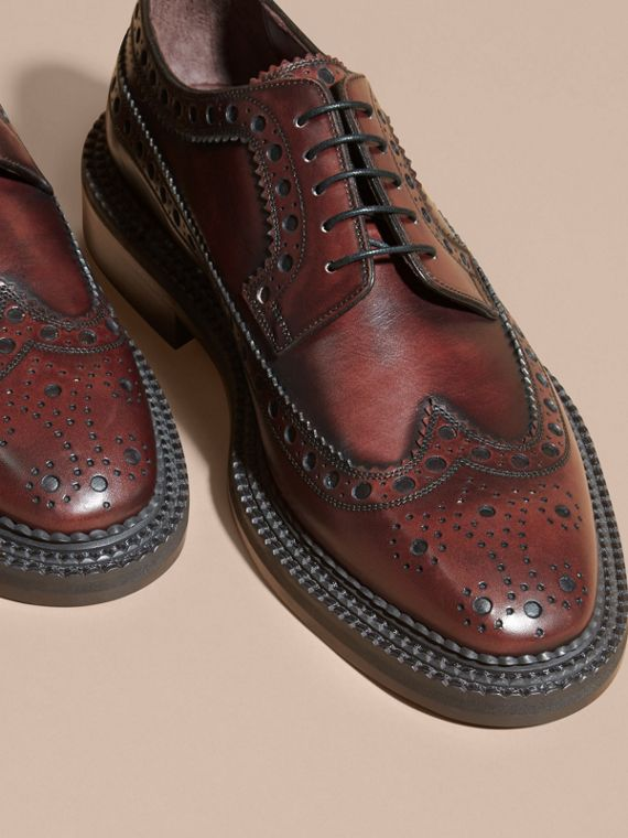Bordeaux Leather Derby Brogues - cell image 2