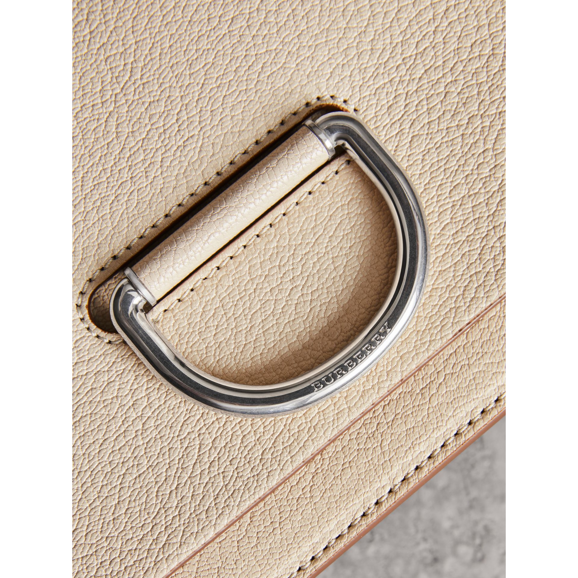 The Small Leather D-ring Bag in Stone - Women | Burberry - gallery image 1