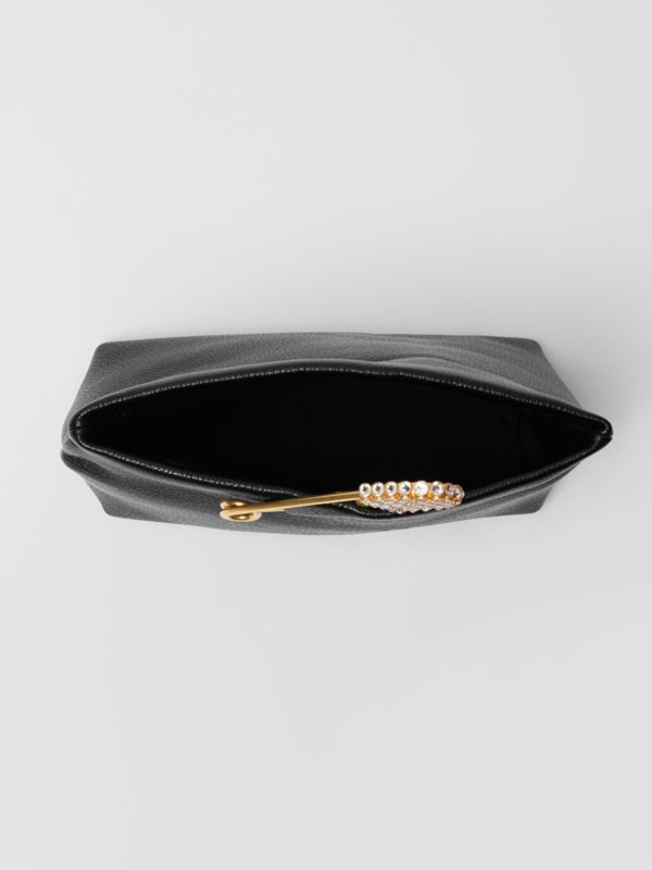 The Small Pin Clutch in Leather in Black - Women | Burberry United Kingdom - cell image 3