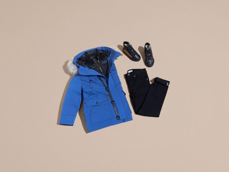 Fur-trimmed Down-filled Hooded Puffer Coat - cell image 4