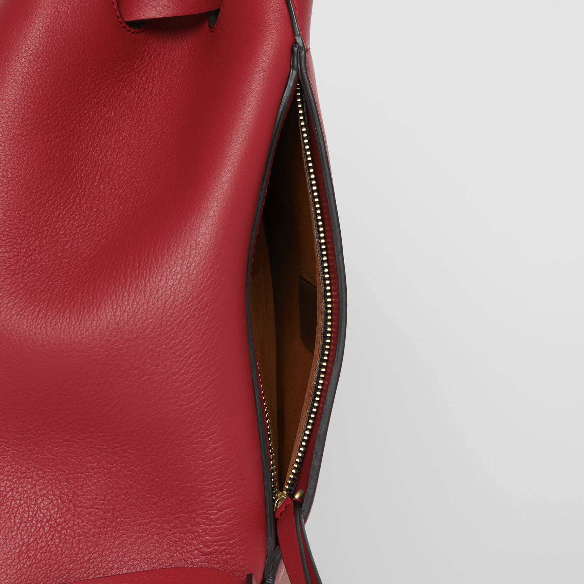The Leather Grommet Detail Backpack in Crimson - Women | Burberry United States - gallery image 6