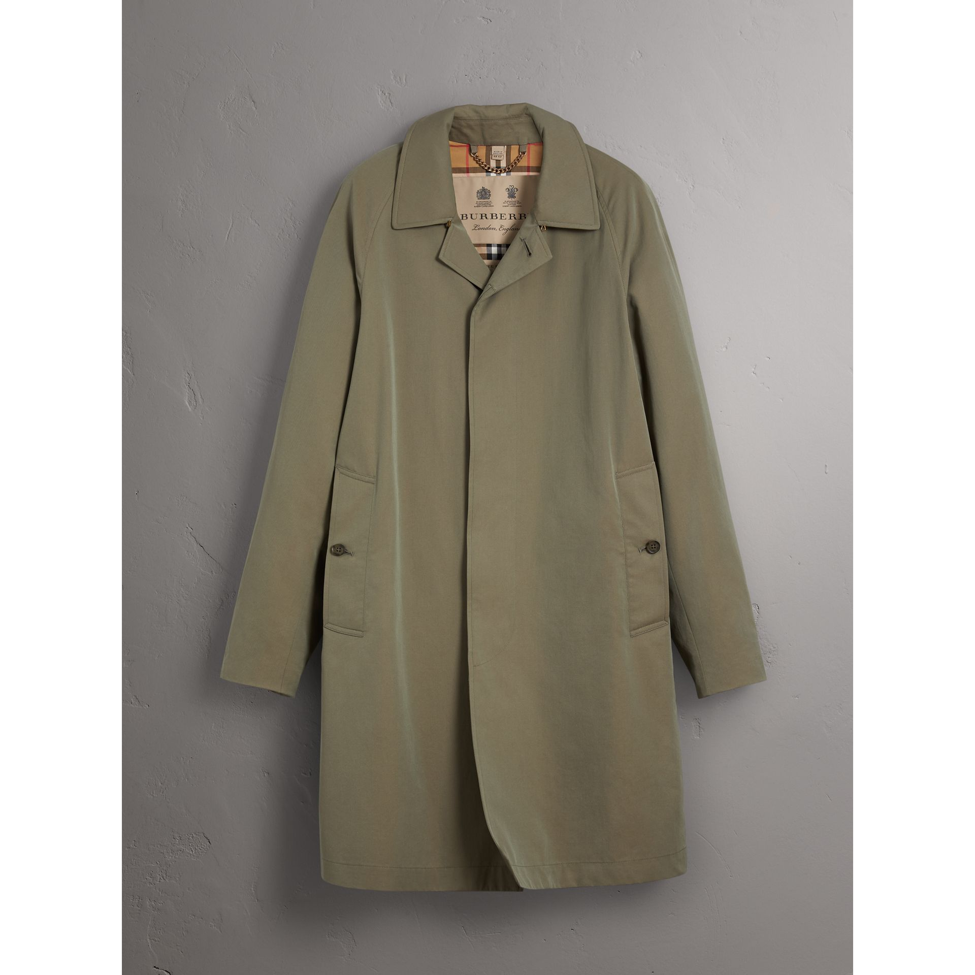 The Camden Car Coat in Chalk Green - Men | Burberry Singapore - gallery image 3
