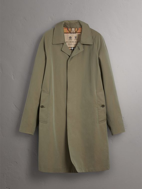 The Camden – Long Car Coat in Chalk Green - Men | Burberry - cell image 3