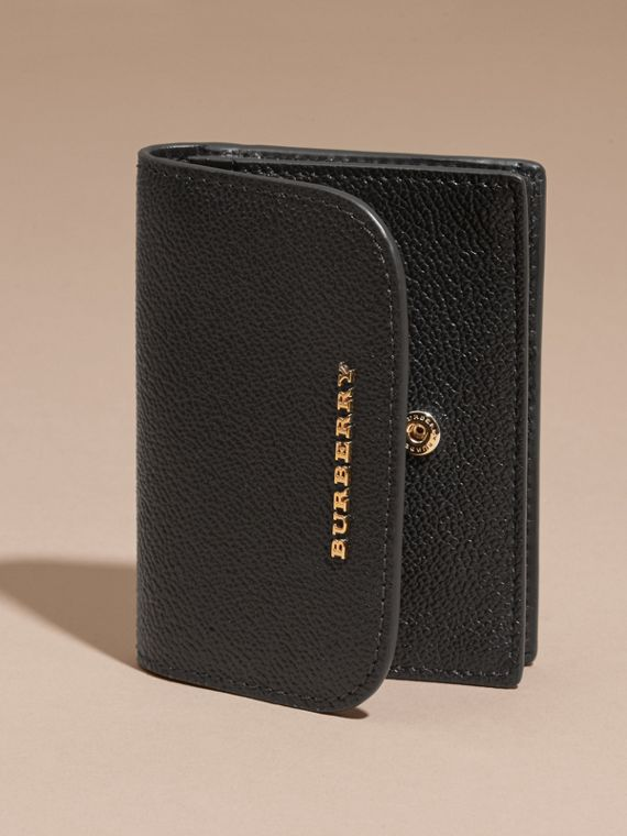 Grainy Leather Card Case Black - cell image 2