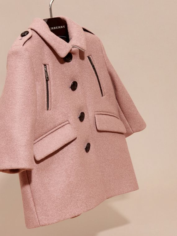 Pale ash rose Tailored Wool Coat - cell image 2