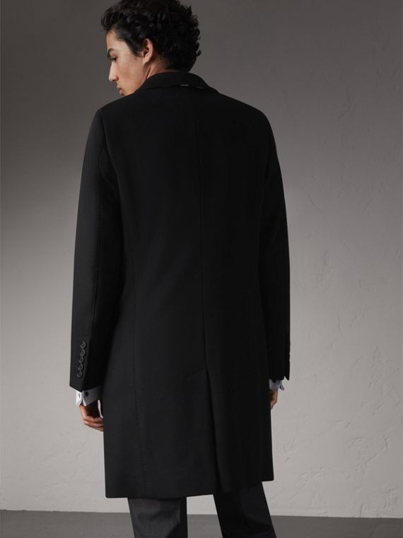 Double-breasted Wool Cashmere Tailored Coat in Black - Men | Burberry Hong Kong - cell image 2
