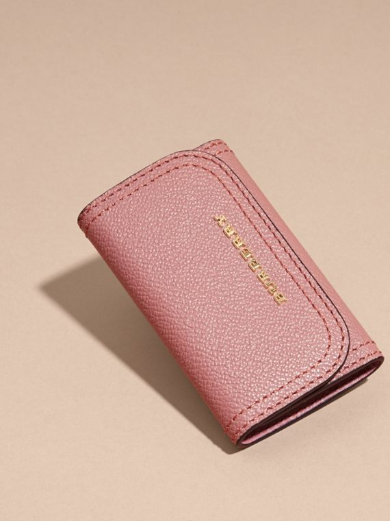 Grainy Leather Key Holder in Dusty Pink - Women | Burberry - cell image 2