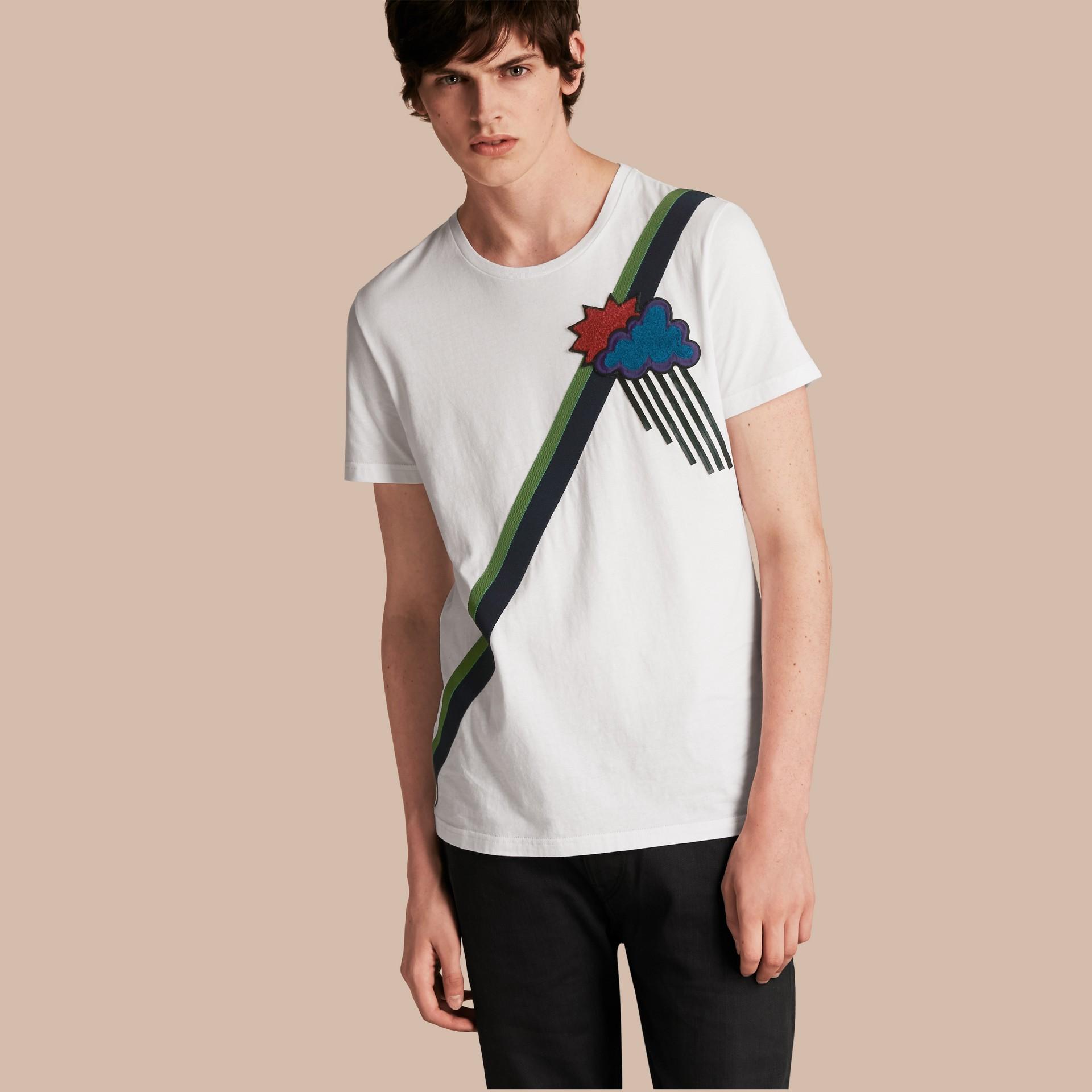 Weather Appliqué Cotton T-shirt - gallery image 1